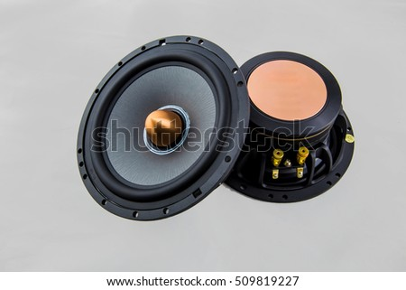 Car Speaker white background.