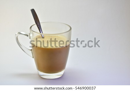 Caramel Macchiato on white background