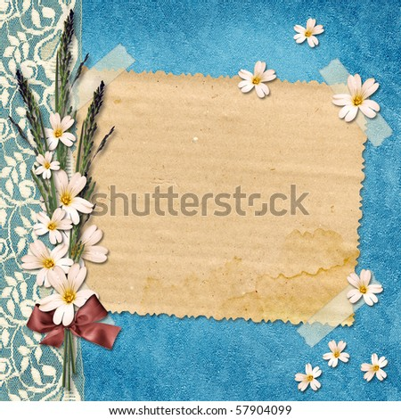 Card for congratulation on abstract background.