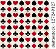card suit seamless pattern (raster version) - stock photo