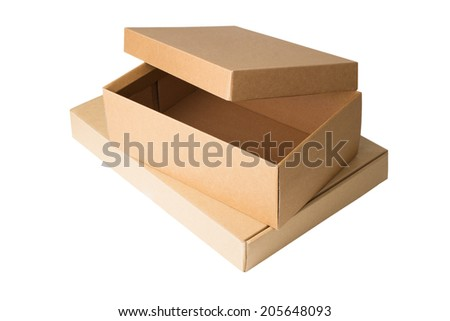 Cardboard boxes isolated on a white background