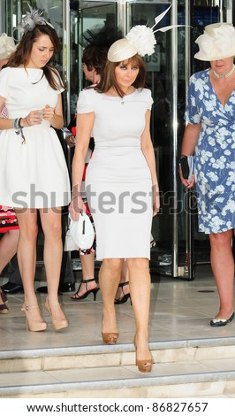Carol Vorderman attending The Epsom Derby Meeting at Epsom Downs Racecourse in Surrey. 4th June 2011.  05/06/2011  Picture by: Simon Burchell / Featureflash