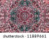 carpet with floral ornament - stock photo