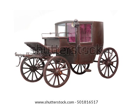 carriage XIX st. on a white background