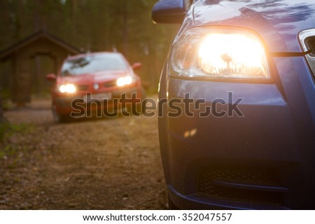 Cars in north forest