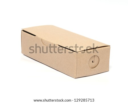 carton square brown open lid isolated on white background