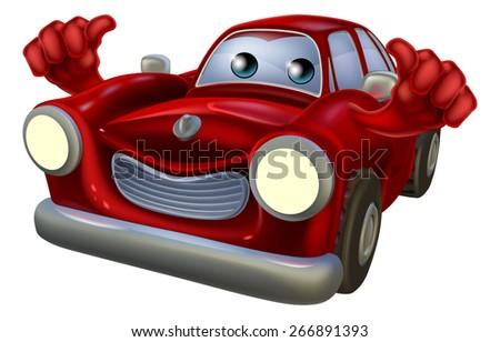 Cartoon car auto repair garage mechanic stock vector for Garage happy car