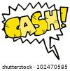 cartoon comic book money shout - stock photo