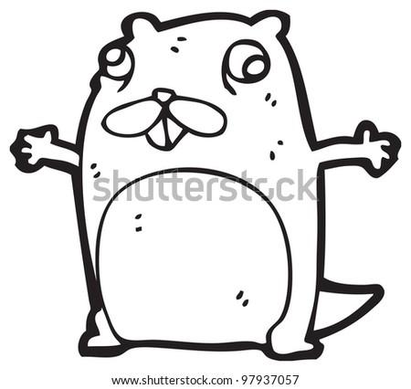 Cartoon crazy beaver stock photo