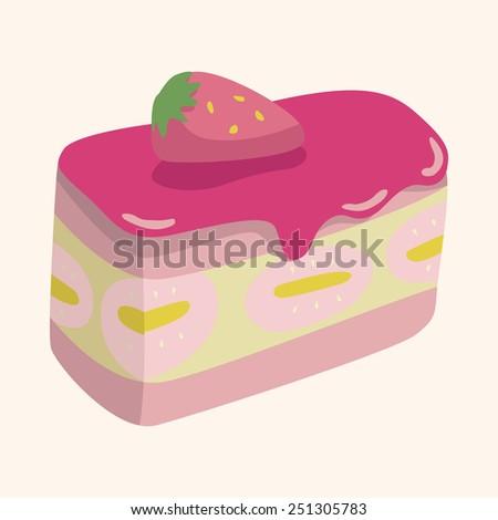 Cake Decoration Cartoon : Strawberry Cake Stock Illustration 196529837 - Shutterstock