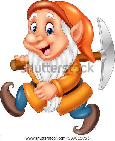 cartoon dwarf miner stock vector 539015965 shutterstock