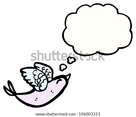 cartoon flapping bird - stock photo - photo#17