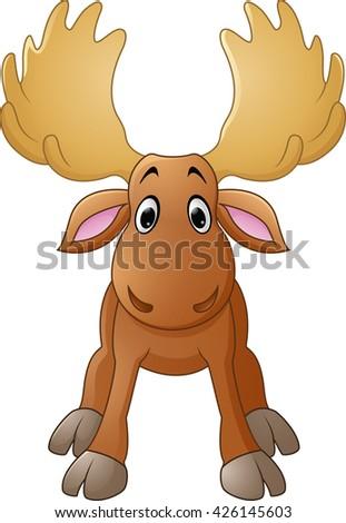 Moose face cartoon - photo#54
