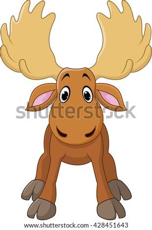 Cute Moose Cartoon Wav...