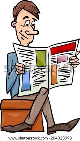 cartoon person reading a - photo #36