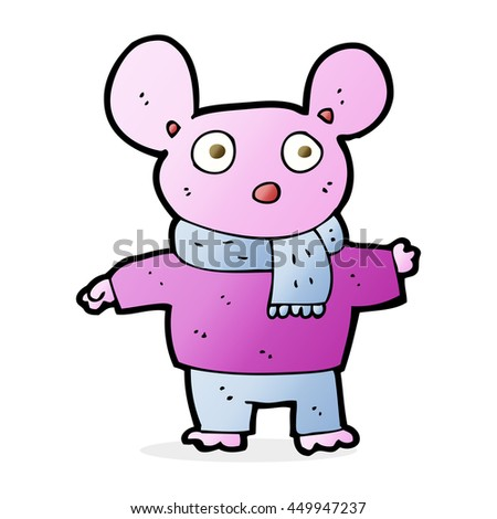cartoon mouse in clothes