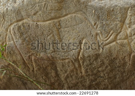 Carvings dating back 10 000 BC in Gobustan,Azerbaijan
