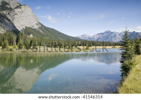 Cascade Pond in August Banff National Park Canada