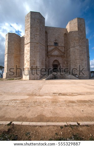 Castel del Monte and mysterious ancient castle built by federico seconto Murgie Puglia