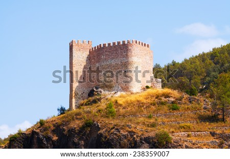 Castillo de Gaibiel in  summer day.  Valencian Community, Spain