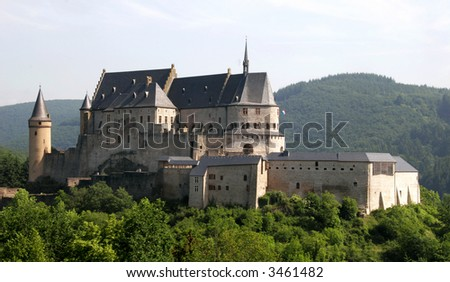 Castle located in Luxembourg in the small town of Vianden