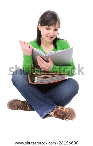 casual student isolated over white background