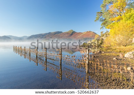 Cat Bells, Derwentwater and Causey Pike at dawn