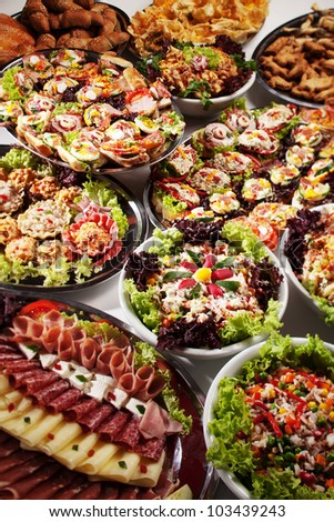 catering party food canape selection