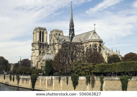 Cathedral Notre-Dame de Paris is a medieval Catholic cathedral