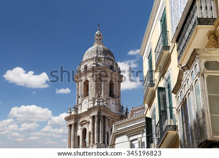 Cathedral of Malaga-- is a Renaissance church in the city of Malaga, Andalusia, southern Spain. It was constructed between 1528 and 1782; its interior is also in Renaissance style