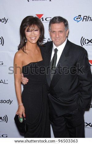 CBS chief LESLIE MOONVES & JULIE CHEN at music mogul Clive Davis' annual pre-Grammy party at the Beverly Hilton Hotel. February 7, 2006  Beverly Hills, CA  2006 Paul Smith / Featureflash