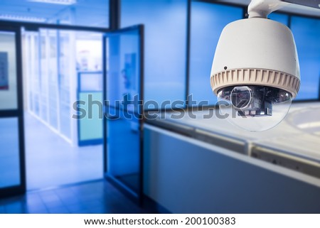 Stock vector blue robotic vacuum cleaner - Cctv Camera Concept Device Features Stock Vector 489713722