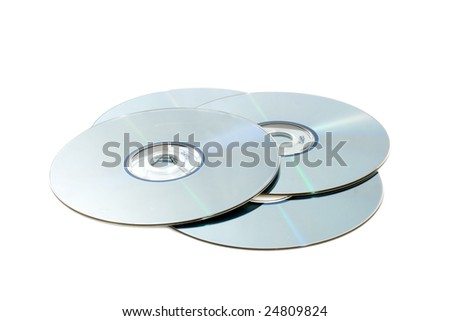 CD Disks isolated on a white background