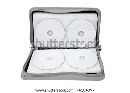 CD/DVD case on white background.