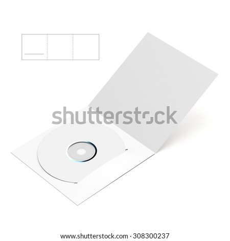 CD & DVD Folder Envelope with Die Line Template