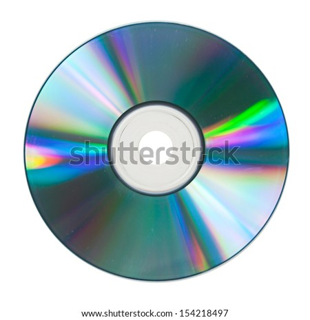 CD on DVD isolated on White