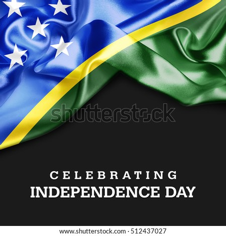 Celebrating Solomon Islands Independence Day. 3d illustration