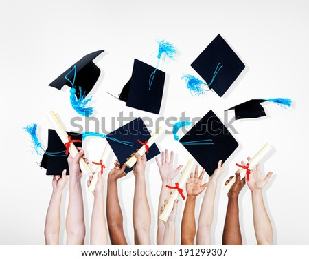 Celebration of a group of graduating students.