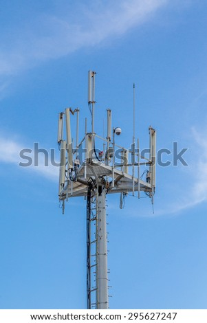 Cellular tower with communicaitons equipment