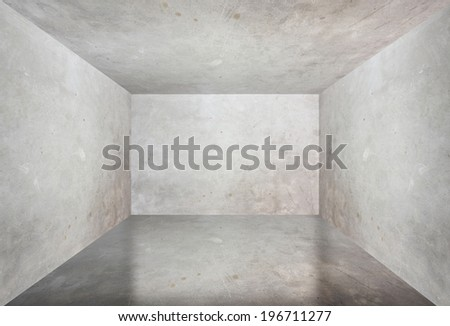 Cement room perspective,grunge background.