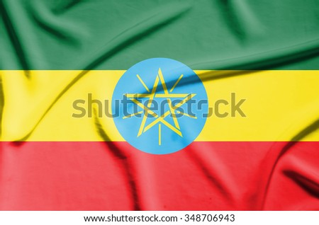 central african republic flag on soft and smooth silk texture