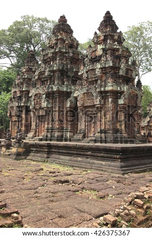 Central Shrine, Banteay Srei Temple, Siem Reap, Cambodia
