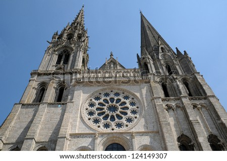 Centre, the cathedral of Chartres in Eure et Loir