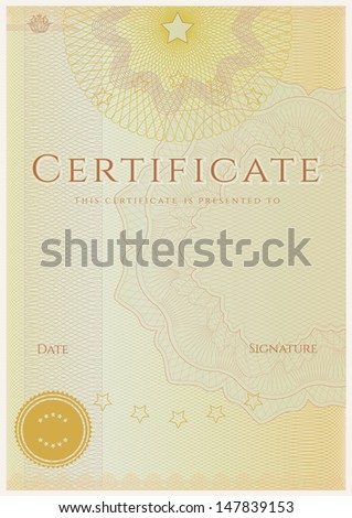 Blue Blank Certificate Completion Template Sample Stock