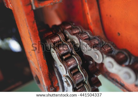 Chain and gears in perfect condition