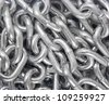 Chain close-up as texture . - stock photo