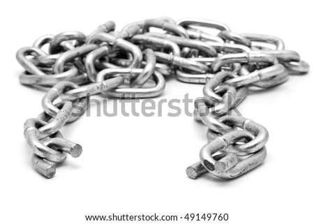 chain on a white background for your illustrations