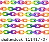 chains in colors of gay pride flag - stock photo