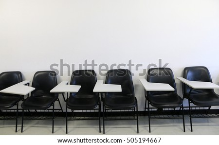Chair in classroom
