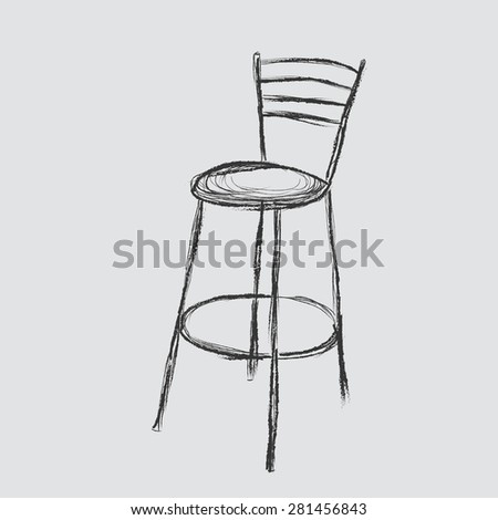 Chair Sketch chair sketch stock illustration 281456840 - shutterstock